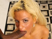 Horny Marilyn Scott rides big black cock and sucks