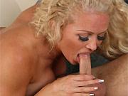 Rebecca Jane Smyth busty milf blonde in love games on bed