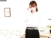 Slender teacher in glasses in cock worship and fuck pics