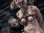 Sister Dee lezdom spanking and toys submissve busty bound Star