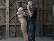 Catherine De Sade busty babe is bound and blindfolded for sex