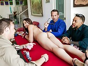 Avi Love gets fucked on the poker table by horny players