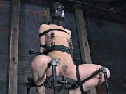 Mina Meow bound for spanking her pussy toyed to orgasm by lezdom