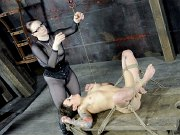 Syd Blakovitch bound and masked her body toyed by lezdom Claire