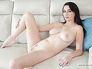 Girl with juicy natural boobs gives head and gets penetrated POV style