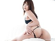 Beautiful Japanese lesbians strip and show their love for each other
