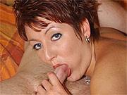 Short red hair horny milf sex action
