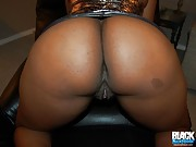 Black plumper and her fat shaved ebony pussy