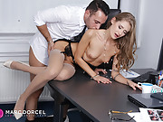 Ashley Adams, Jane Wilde and Ryan Conner fuck some road workers in a bus