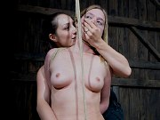 Sister Dee kinky lezdom toys rope bound submissve blonde Star