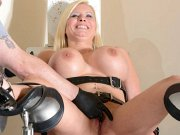 Brunette cutie with tanlines gets plowed by her stepbrother