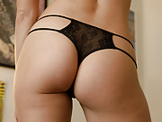Smoking hot amateur shows off her delicate lingerie in the bedroom