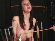 Slave Emilias tit torture and breast spanking bdsm