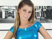 Amateur teen Gemmas latex fetish and heeled blonde