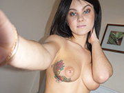 Mysterious goth hottie Alisa shows off plump perky punk boobs
