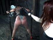 Sexy tgirl Roberta Cortes enjoys fucking machine in her ass