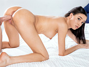Cute new tgirl Yoko gets nude and hard in sexy gravure pics