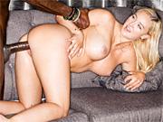 Blondie hooks up with a tall dark stranger for wild sex