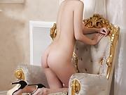 20yo hottie in sexy underwear works a strong POV penis in bed