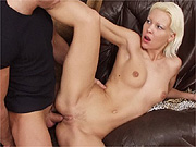 Hot Russian brunette babe Kate Rich fucked on the table