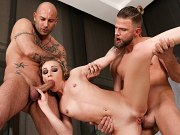 Cutie gets her tight little butthole banged in the loft