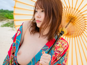 Sweet Nanako Asahina goes for her first anal sex at a Japanese inn