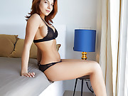 Exotic looking babe takes her landlord's cock up the butt