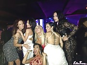 Nikki Montero party with celebrities in Hollywood