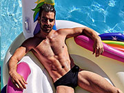 Dancing with the Stars Nyle DiMarvo speedo'ing it up. Love the classic speedo!!!