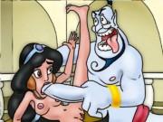 Lusty Genie decided to seduce shy girl Jasmine to fuck hard