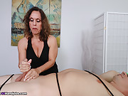 Mature Handjob Expert Mrs Candi Teasing the Orgasm