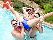 Gay threesome movie and photo gallery.