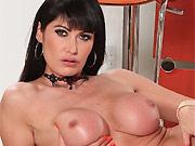 Sexy milf Eva Karera shows big round boobs