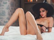 Sexy witch Serenity flawless her naked body
