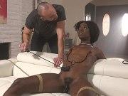 Ana Foxxx ebony is bound for spanking and anal fucked by maledom