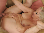 Annabelle Brady mature housewife fucking on a sofa