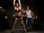 Kendall Penny tranny is bound for spanking and toying by maledom
