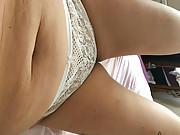 Amateur blonde girl in hot panties