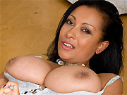 Bigboobs mom Danica Collins in white dress spreads on floor