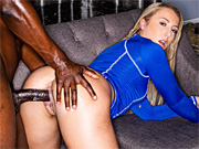 Hottie hooks up with a black stud for wild interracial sex