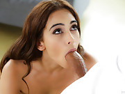 Smoking hot brunette Ginebra Bellucci take dick in her tiny ass