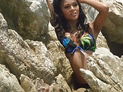 Super hot skinny and young Thai Ladyboys at the beach