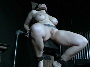 Nadia White is exposed bound and corrected in dungeon by maledom