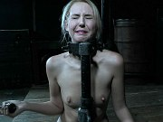 Aali Kali busty blonde is bound exposed and toyed in dungeon