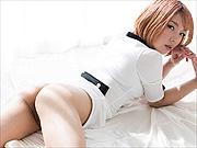 Chie Kobayashi flashes her pleasures