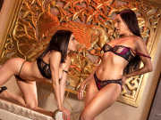 Busty Darcie Dolce and Vicky Chase spice it up