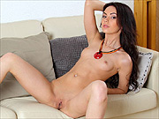 Small tits erotic nude brunette girl