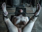 Lex Luthor bound in leather straight jacket and toyed to orgasm