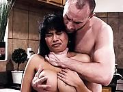 Aryana Amatista busty in new maids uniform cock sucks and fucked