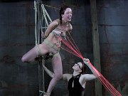 Submissive 412 bound her pussy toyed to orgasm by lezdom Claire